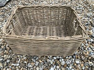 Rustic Wicker Basket, Natural Brown/grey
