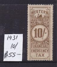 Western Australia: 1931 10/ Financial Emergency Tax.