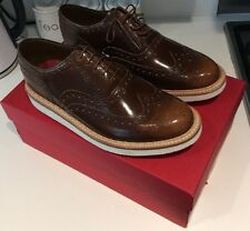GRENSON STANLEY BROGUES BROWN UK SIZE 8 NEW IN BOX