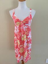 ❤EUC❤O'Neill Floral Hawaiian Print Tie Front Sun Dress Swim Cover❤Sz M
