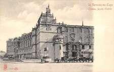 St Germain En Laye France Chateau Exterior Street Scene Antique Postcard K15374
