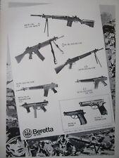 7/1978 PUB BERETTA GARDONE CARABINE PISTOLET ASSAULT RIFLE GUN ORIGINAL AD