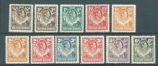Northern Rhodesia 1938-51 sg.26-32, 34-36, 38 MH