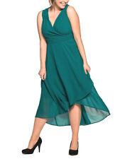 Sheego Chiffon Abendkleid Partykleid smaragd grün Gr.52