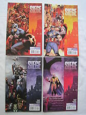 SIEGE : COMPLETE 4 ISSUE MARVEL 2010 SERIES by BENDIS, COIPEL, MORALES. AVENGERS