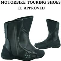 Motorcycle Leather Boots Waterproof Motorbike Racing Sports Shoes CE Armoured UK