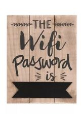 Wooden Rustic, Plaque The Wifi Password Is Blackboard Sign Home Cafe Pub Hotel,