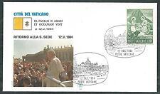 1984 VATICANO VIAGGI DEL PAPA RITORNO A ROMA DA ASIA E OCEANIA - SV