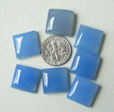 Square  Blue Chalcedony Cabochons 14mm