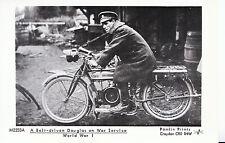Bike Postcard - A Belt-Driven Douglas on War Service - World War 1 U1897
