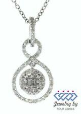 White Gold Baguette Fine Diamond Necklaces & Pendants
