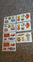 Vintage 1985 Shoney's Incorporated Restaurant Golden Press 7 Stickers Sheets