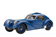 1938 Bugatti 57SC Atlantic Blue With Spoke Wheels 1/18 by Autoart 70942