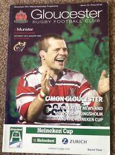 2004 GLOUCESTER v MUNSTER (Ireland) Heineken Cup programme