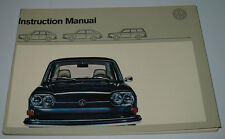 Instruction Manual VW 411 E / 411 E Variant Betriebsanleitung August 1970!