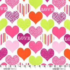 Quilting Less than 1 Metre Love & Hearts 100% Cotton Fabric