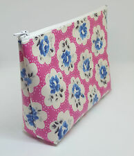 Cath Kidston Provence Rose Pink Oilcloth Handmade Make Up Bag Toiletry Bag