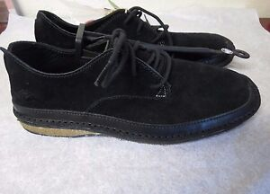 Ocean Minded Men's RuffOut Chukka suede Shoe black size 8 Men new