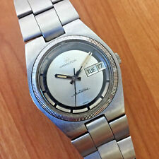EXCELLENT VINTAGE 1970's HAMILTON 702 ELECTRONIC DAY DATE WATCH - WORKS GREAT!