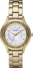 DKNY Gold-plated Crystals Ladies Watch NY8135 NEW!  Low Inter Shipping!!!