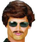 Mens Short Brown Wig Used Car Salesman George Michael Wham Fancy Dress