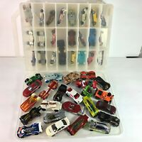 Vintage 48 Hot Wheels Collectible Cars w/ 2-Sided Opening Display Carrying Case