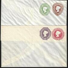 UK GB 1889 TWO MINT POSTAL COVERS H&G KB159 PTPO H&G KB165 PTPO