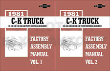 1981 Chevy CK Pickup Truck Assembly Manual C10-C30 K10-K30 and GMC Sierra