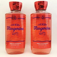 2 Bath & Body Works Iced Tangerine Mojito Shower Gel 10 fl.oz 295 ml New