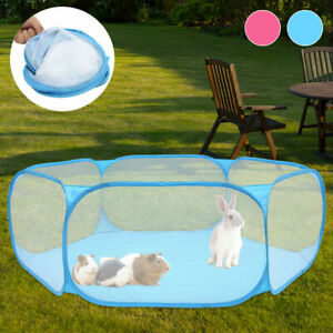 Small Animal Playpen Pet Cage Tent Exercise Fence Pop-Up Yard Outdoor Portable