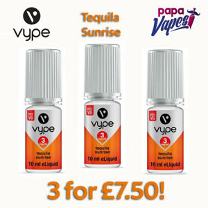 VYPE E-LIQUID Special offer 3 for £7.50!   TEQUILA SUNRISE   3MG 6MG 12MG   10ML