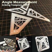 4 in 1 Metal Angle Measurement Scribing Template Ruler Model Building Tools Set