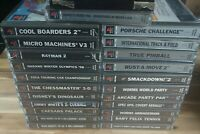 PS1 Playstation 1 Job Lot / Bundle - 24 Boxed Games Good Mix - Worms, Rayman +