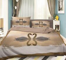 3D Swan Nature 688 Bed Pillowcases Quilt Duvet Cover Set Single King UK Summer