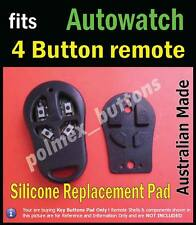 fits Autowatch 4 buttons remote immobiliser - 1 Silicone repair key Buttons Pad