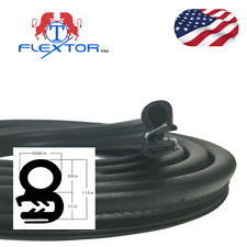 (10ft 120 in) Rubber Car Door Seal Weatherstrip Body Mounted Front Left or Right