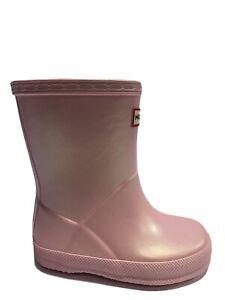 Hunter Toddlers' First Classic Nebula, Pink Rain Boots, Girls' Size 7.