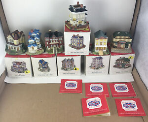 Vintage Lot Of 6 Americana Collection Liberty Falls With Boxes 1993-1994