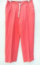 LAFAYETTE 148 Womens LINEN DRAWSTRING PLEATED LOOSE FIT Ankle/Crop Pants Sz.10