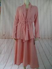 Winter Sun Dress Top M New $124 Peach Sleeveles Shift Jacket Cotton Ecuador 2Pc