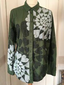 Desigual shirt L green cotton 12
