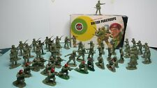 Airfix British Paratroop Figures 1/32 Scale, 49 figs, some painted, + poor box