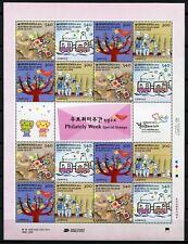 Korea Süd 2014 Woche der Philatelie Comics Philately 3014-17 Kleinbogen MNH