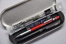 Pentel Philography Black +Graph 600 0.7 Automatic pencil +2 free refill