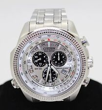 Citizen Eco Drive Ref GN-4W-S Chronograph Stainless Steel Men's Watch Very Nice