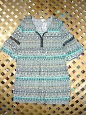 Esspresso Black & Blue Designed Stretch Polyester Dress Plus Size 2X NWT!