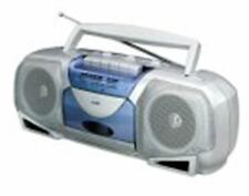 Coby CX244 Portable AM/FM Cassette Player and Recorder (Silver/Blue)