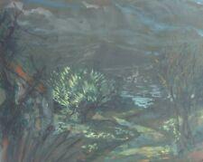 René GRAS (1911-2006) Pastel Paysage Années 50 Expressionnisme Nl Ecole de Paris