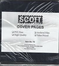 Pkg. 25 Scott T2 2-Pockets Double-Sided Black Refill Pages for Cover Album