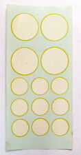 White Circle for Racing Numbers Decals RUSSKIT #7111 Complete sheet Slot Car NOS
